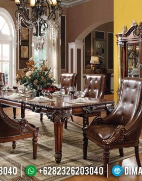 Harga Meja Makan Jati Klasik New Luxury Royals Design Jepara BT-0531