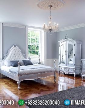 Interior Ideas Tempat Tidur Mewah Silver Glossy Duco Jepara BT-0539