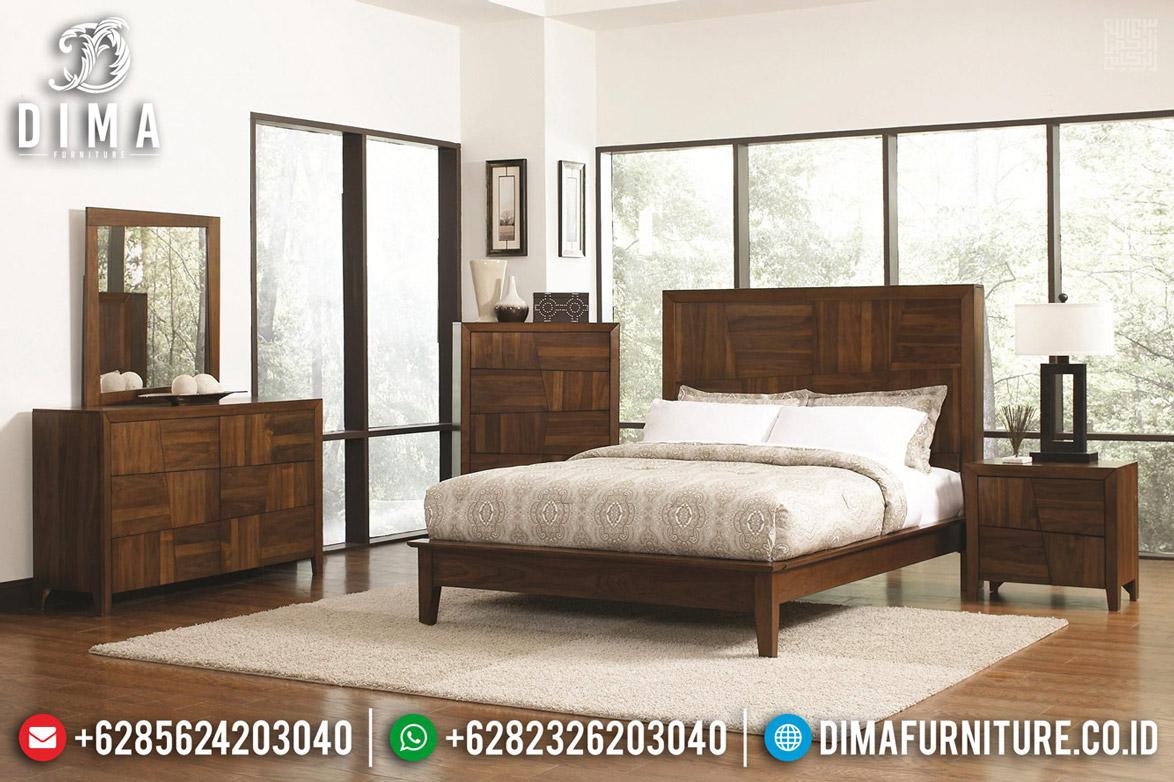Jual Kamar Set Minimalis Kayu Jati Jepara Natural Salak Brown BT-0463