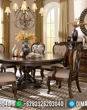 Jual Meja Makan Minimalis Classic Jati Natural Design Interior Inspiration BT-0549
