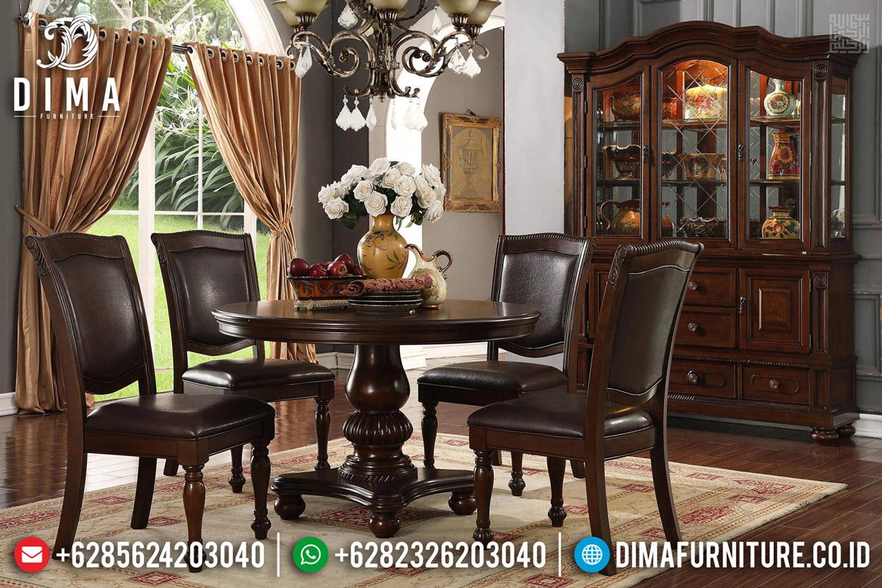 Jual Set Meja Makan Mewah Jepara Natural Jati Classy Versace BT-0488