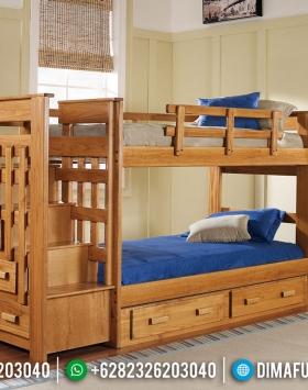 Jual Tempat Tidur Anak Dipan Tingkat Natural Jati New Models 2020 BT-0545