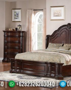 Jual Tempat Tidur Jati Classic Natural Salak Desain Royals Luxury BT-0520