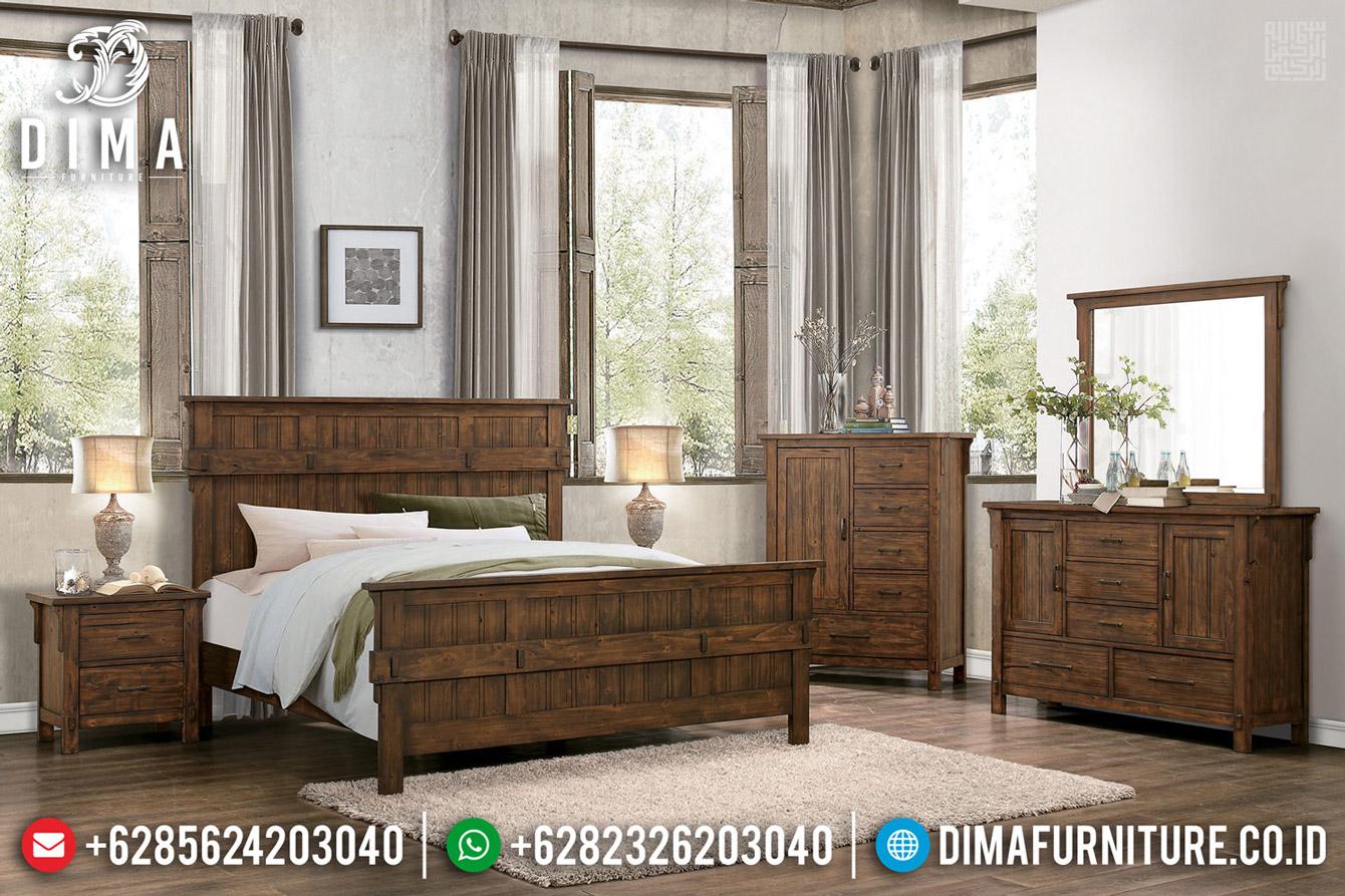 Jual Tempat Tidur Minimalis Classic Natural Jati Jepara BT-0501