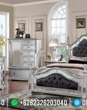 Kamar Set Mewah Modern Silver Duco Combine Glass Luxury BT-0523