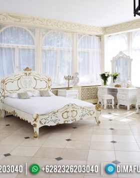 Kamar Set Mewah Putih Duco Kombinasi Furniture Jepara Luxury Classic Design BT-0535
