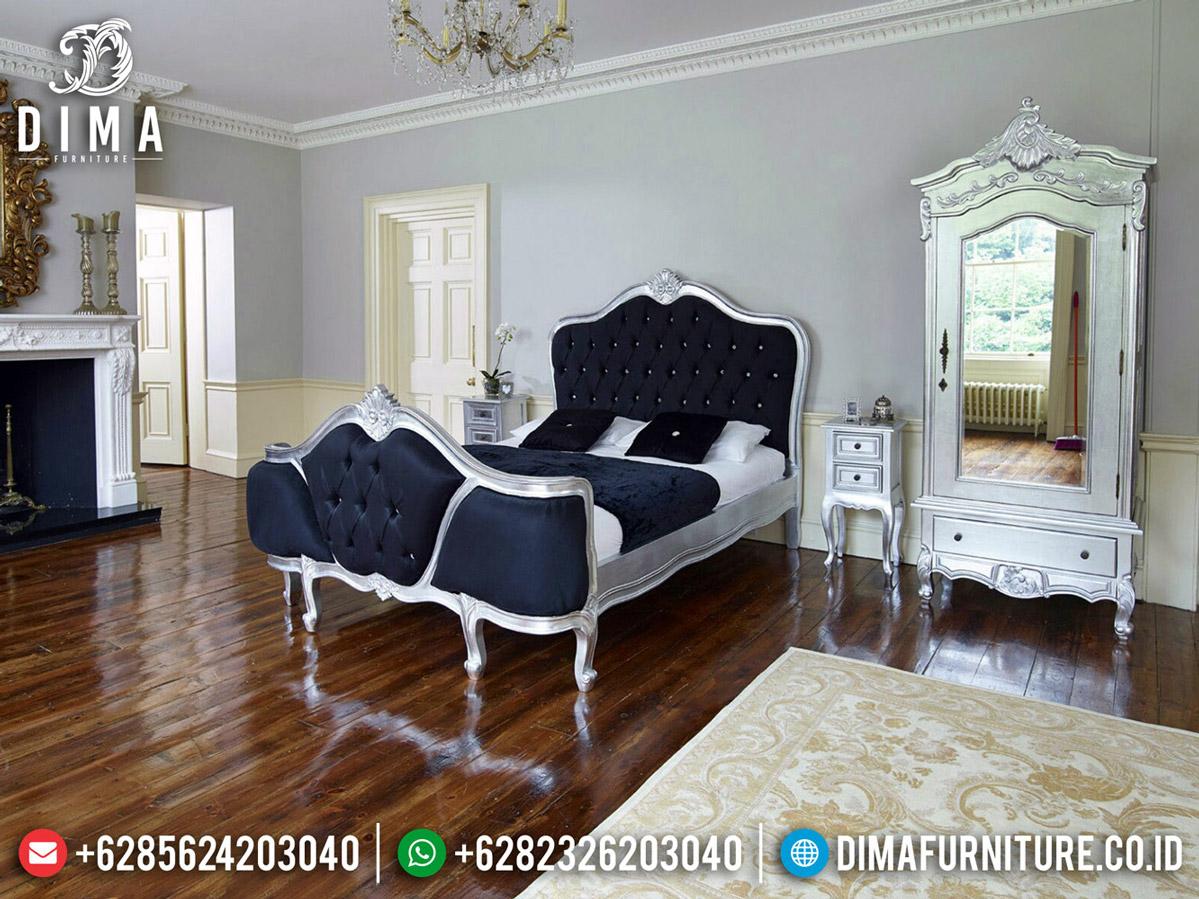 Model Tempat Tidur Mewah Silver Diamond New Furniture Jepara Luxury BT-0537