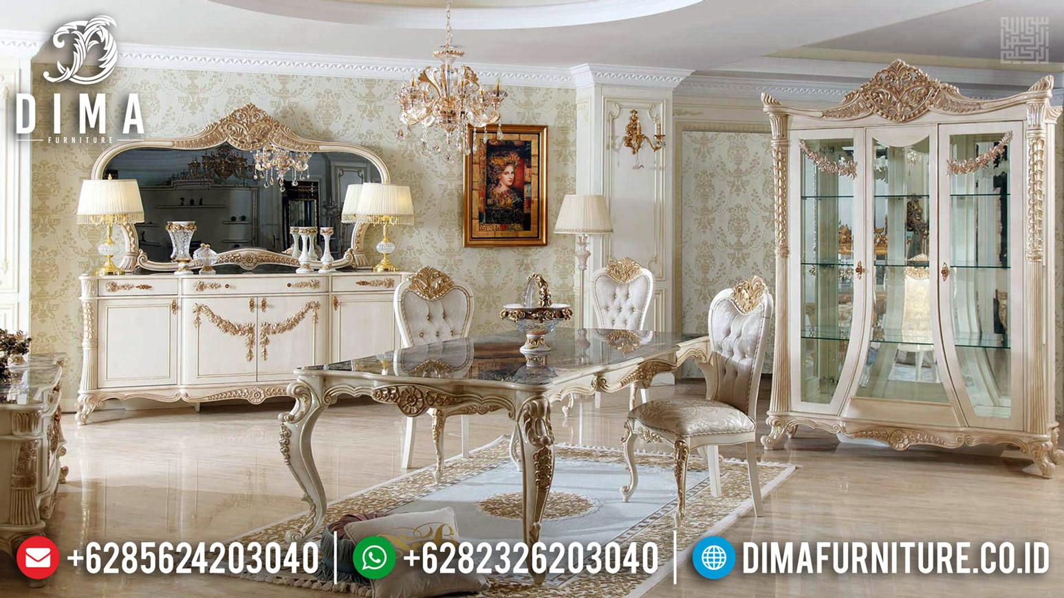 Set Kursi Meja Makan Mewah Glorious Furniture Jepara BT-0482
