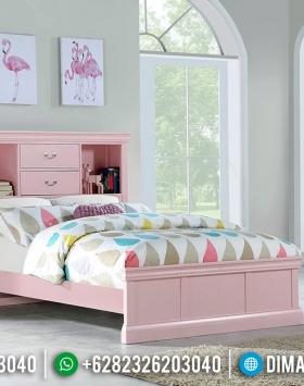 Set Tempat Tidur Minimalis Modern Cantik Pink Duco Golssy BT-0565