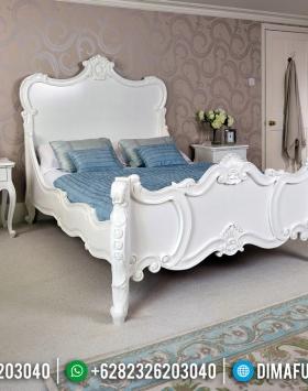 Tempat Tidur Mewah Warna Putih Ukiran Classic Italian Luxury Model BT-0536