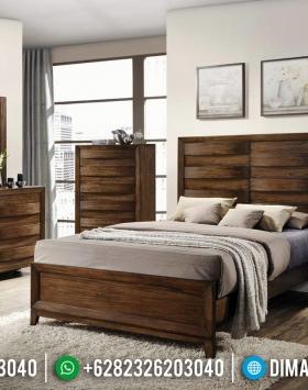 Tempat Tidur Minimalis Jati Jepara Natural Classic Brown Glossy BT-0499