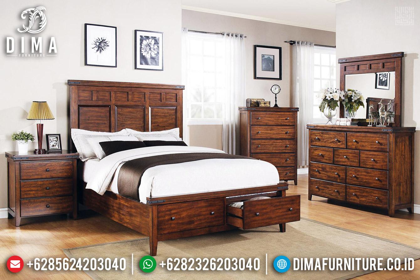 Tempat Tidur Minimalis Jepara, Kamar Set Klasik Natural, Ranjang Dipan Jati Perhutani BT-0504