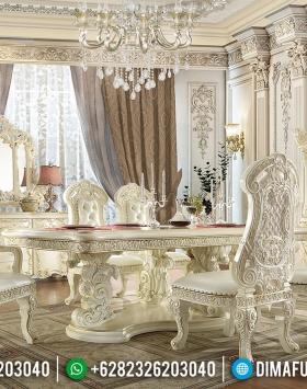 Beli Meja Makan Mewah Ukiran Luxury Klasik Terbaru Furniture Jepara Berkualitas BT-0607