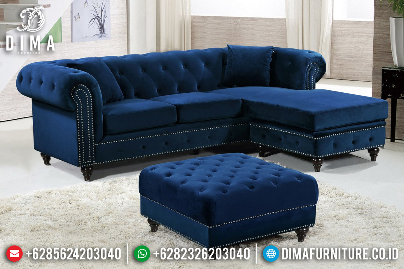 Best Price Sofa Tamu Modern Chesterfield Design Interior Minimalis BT-0622