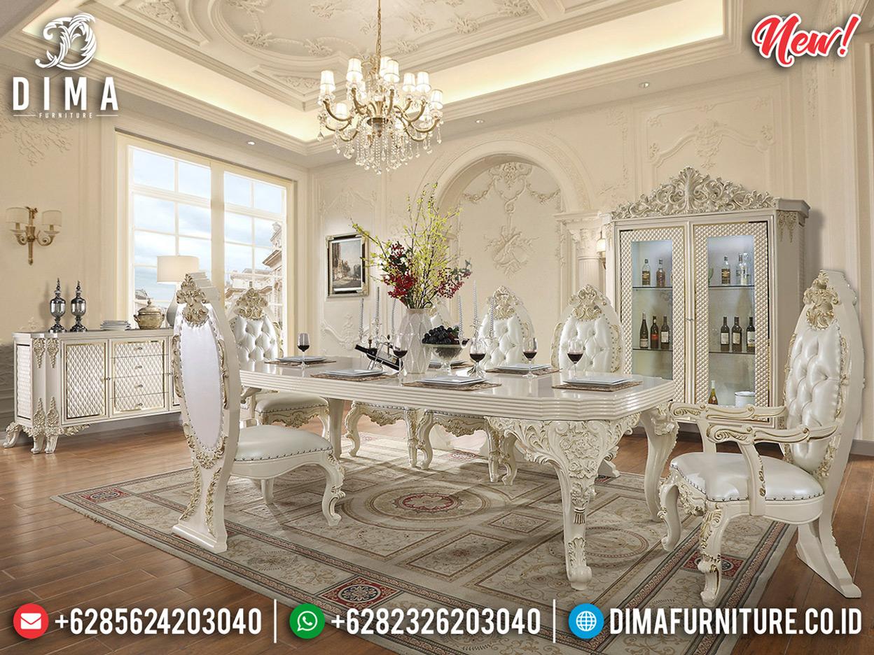 Desain Meja Makan Ukiran Mewah Jepara Best Quality Produk Luxury Classic BT-0608