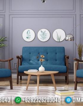Desain Ruang Tamu Minimalis Sofa Tamu Klasik Minimalis New 2020 Natural Jati BT-0636