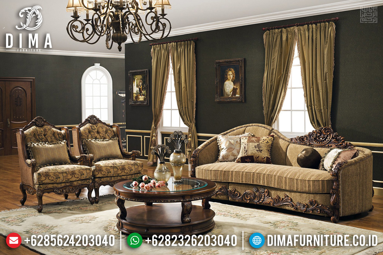 Desain Sofa Tamu Ukiran Klasik Luxury Furniture Jepara Termewah BT-0641