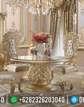 Eksklusif Meja Makan Mewah Golden Duco Luxury Carving Furniture Jepara BT-0617