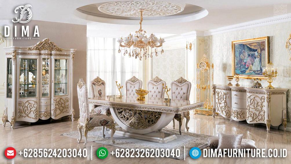 Furniture Jepara Meja Makan Mewah Classic Elizabeth Royals Luxurious BT-0593