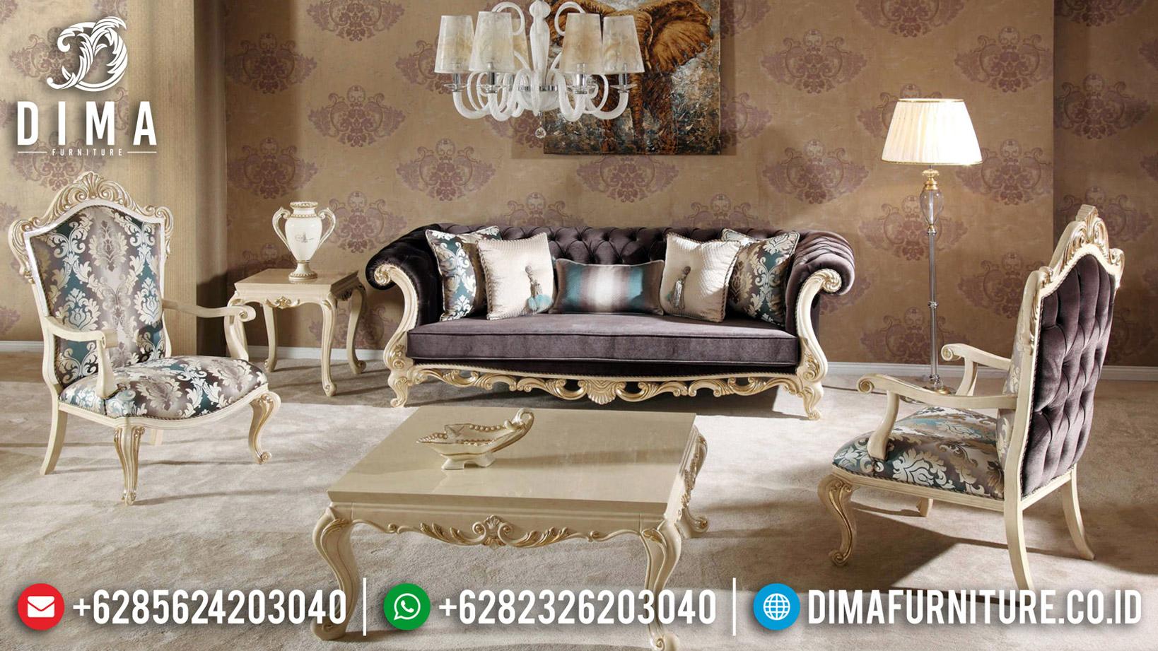 Furniture Jepara Sofa Mewah Luxury Classic White Duco Combination BT-0602