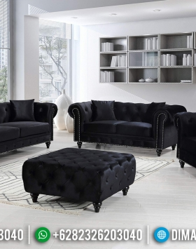 Furniture Jepara Sofa Tamu Minimalis Jepara Natural Jati Type Chesterfield BT-0626