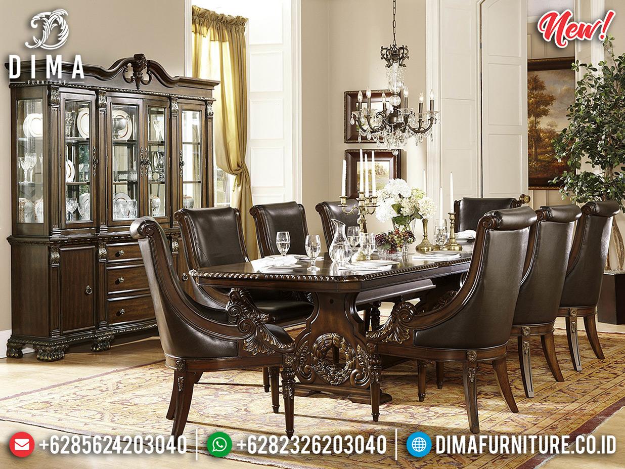 Harga Meja Makan Mewah Ukiran Classic Desig Elegant Luxury Export Quality BT-0614