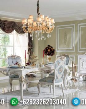Jual Meja Makan Mewah Ukiran Jepara Desain Artistik Luxury Classic BT-0591