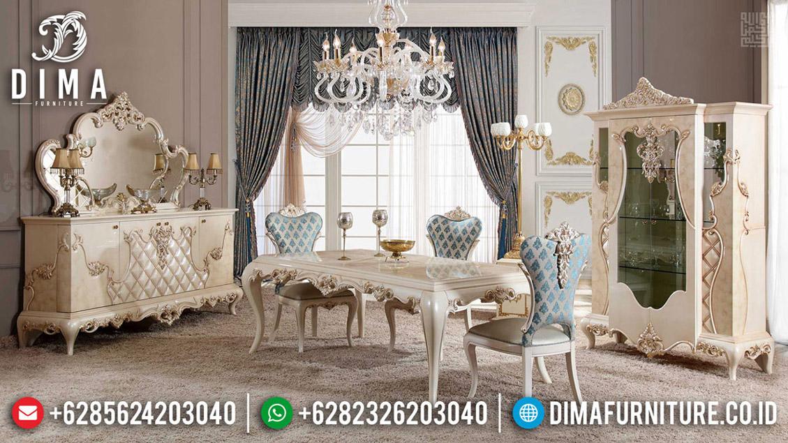 Meja Makan Mewah Luxury Classic Antique Ukiran Jepara Artistik BT-0590