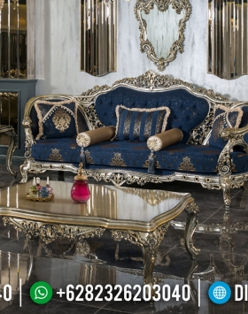 Model Sofa Tamu Mewah Luxury Carving Champagne Glossy Color BT-0596