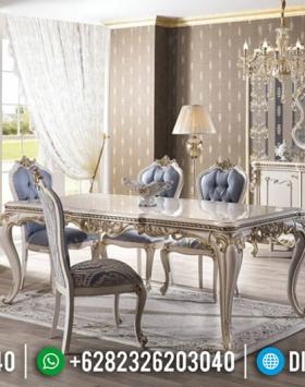 New Meja Makan Mewah Vespucci Luxury Carving Furniture Jepara Murah BT-0586