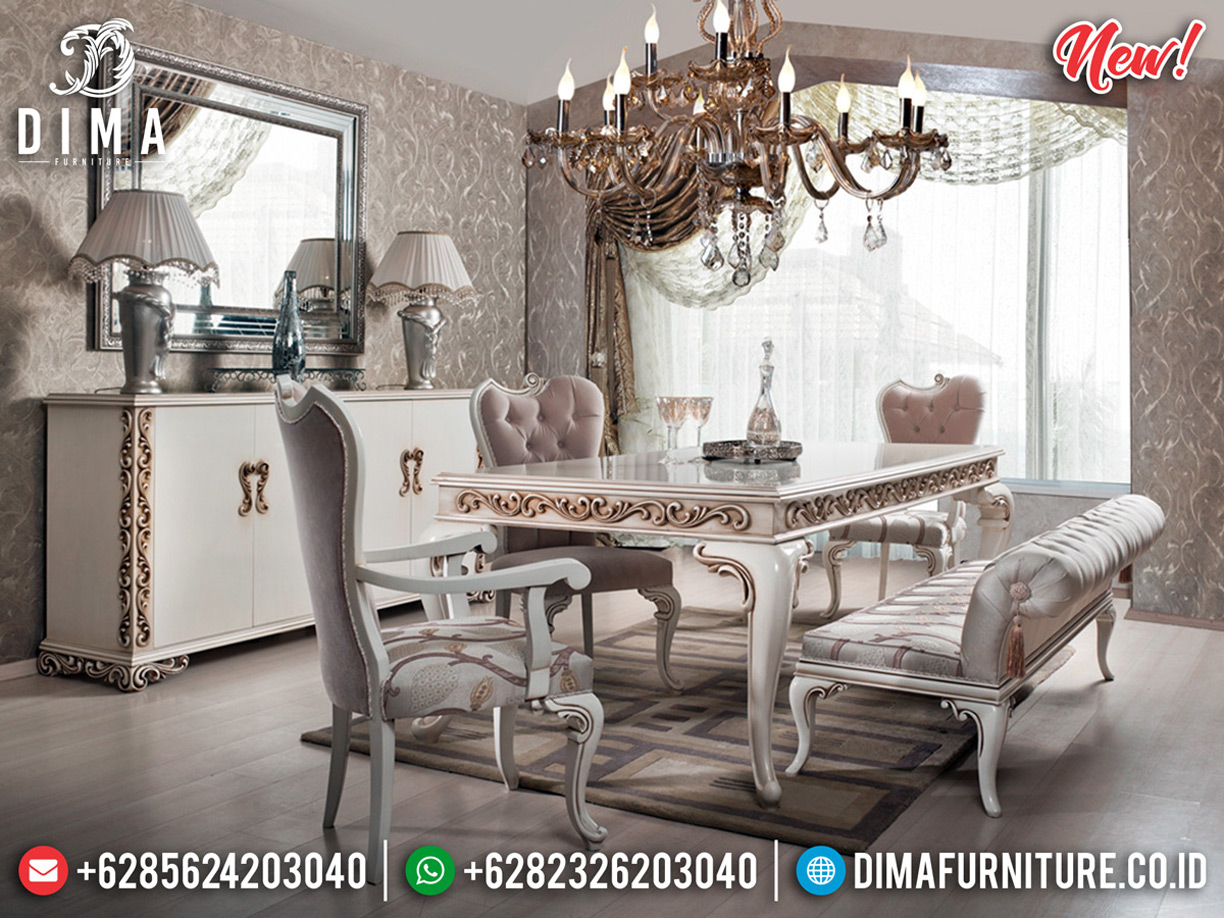 Set Meja Makan Ukiran Klasik New Design Luxury Furniture Jepara BT-0610
