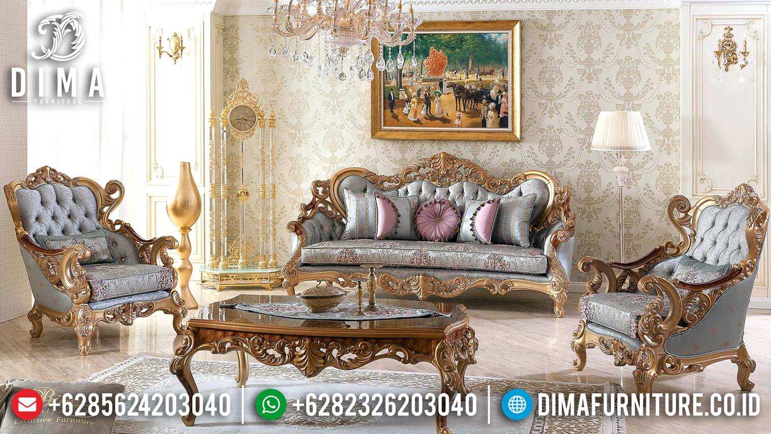 Big Discount New Set Sofa Tamu Mewah Ukiran Golden Duco Gloss Classy BT-0658