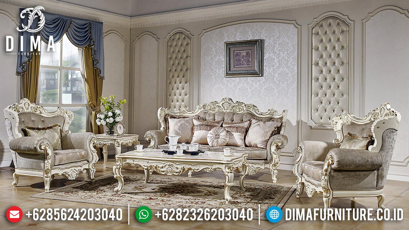 Design Interior Sofa Tamu Mewah Jepara Luxurian New Style Furniture Terbaru BT-0654