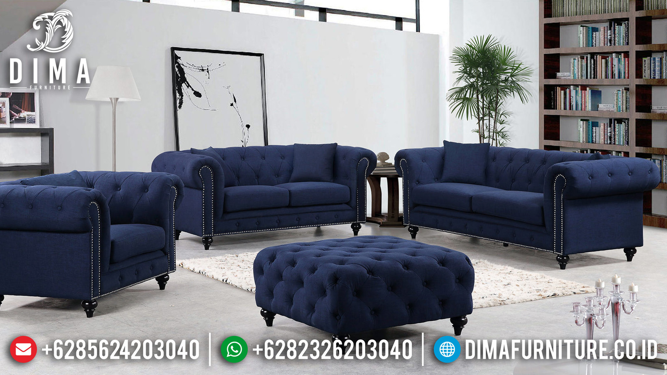 Harga Sofa Tamu Minimalis Jepara New Style Kayu Jati Perhutani BT-0661