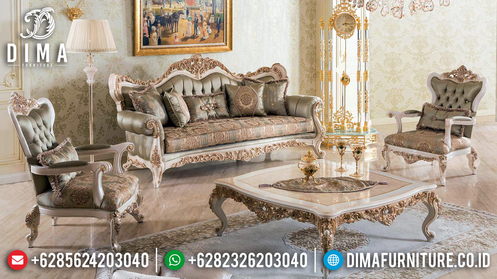 Jual Sofa Tamu Mewah Jepara New Design Luxury Classic Empire Style BT-0647