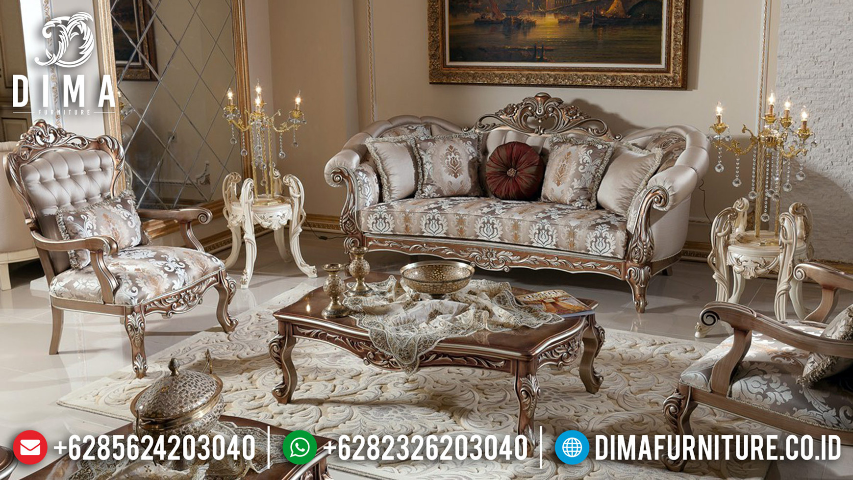 New Models Sofa Tamu Mewah Ukiran Luxury Natural Jati Jepara Best Price BT-0651