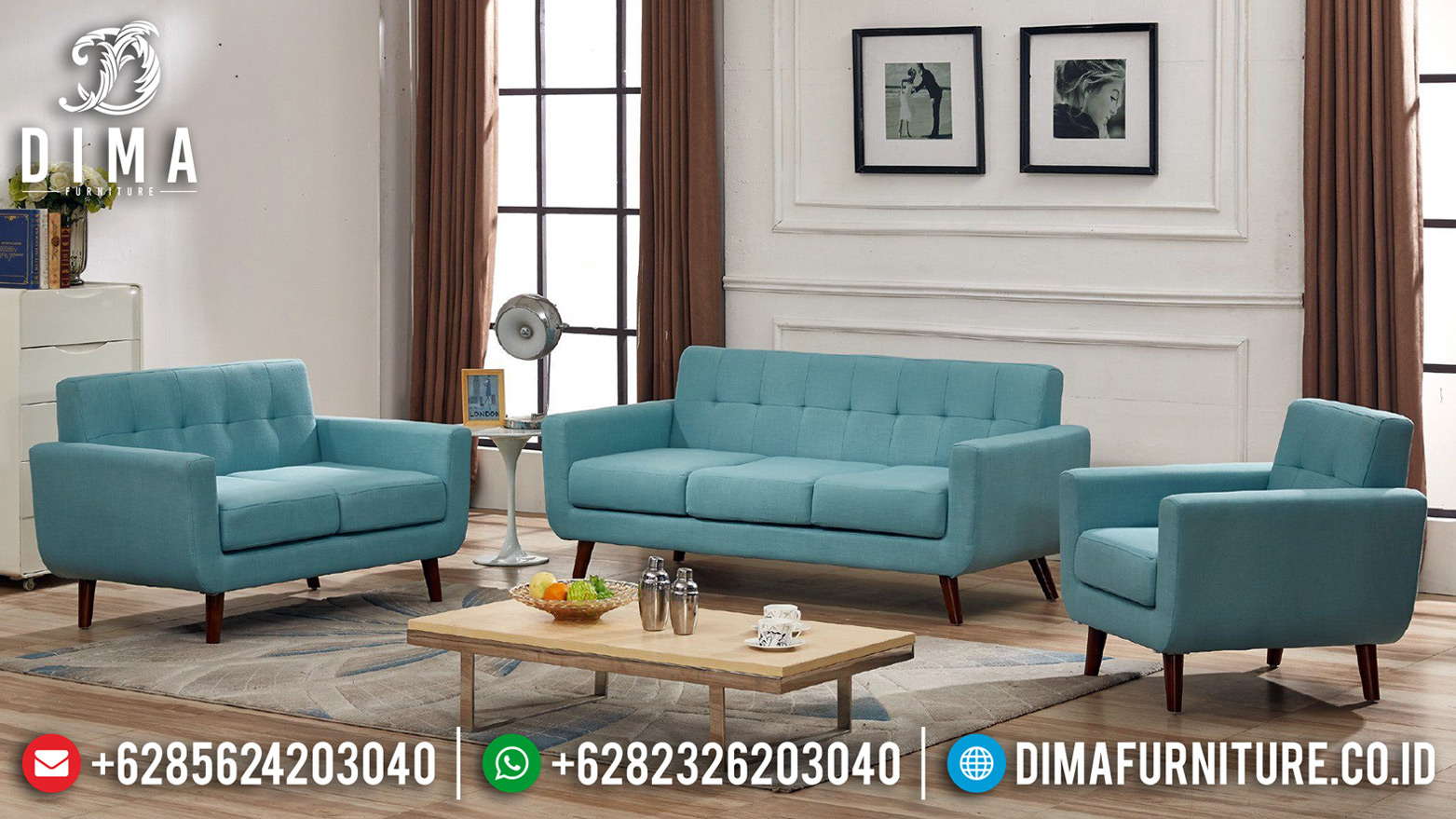 New Sofa Tamu Minimalis Klasik French Retro Style Natural BT-0665