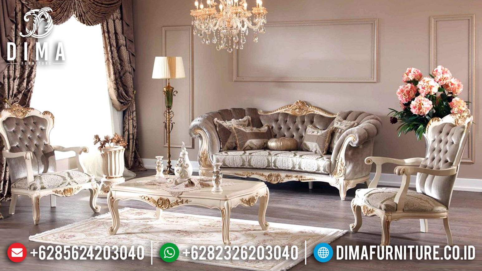 Set Sofa Tamu Mewah Persian Kingdom Turkish Style Luxury Carving Furniture Jepara BT-0652