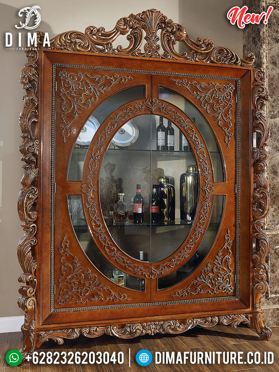 Beautiful Lemari Hias Mewah Kaca Luxury Classic Furniture Jepara BT-0711