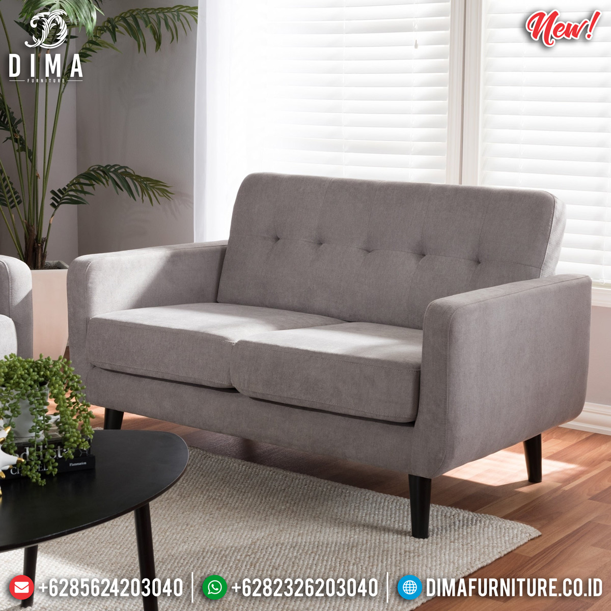 Desain Natural Sofa Santai Minimalis 3 Dudukan Beautiful Looking Interior BT-0738