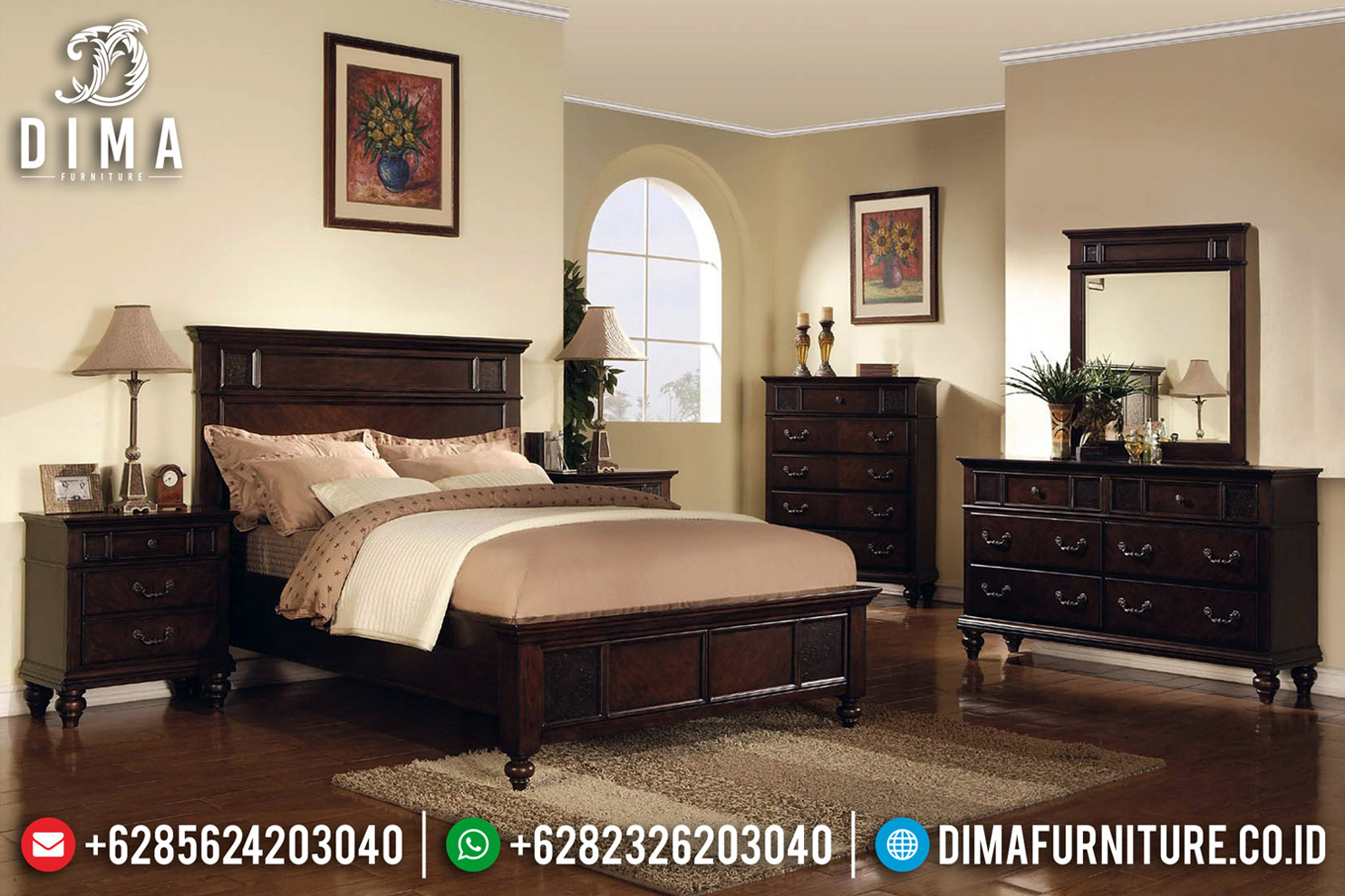 Furniture Jepara Kamar Set Klasik Jati Natural Luxury Type Interior Ideas BT-0671