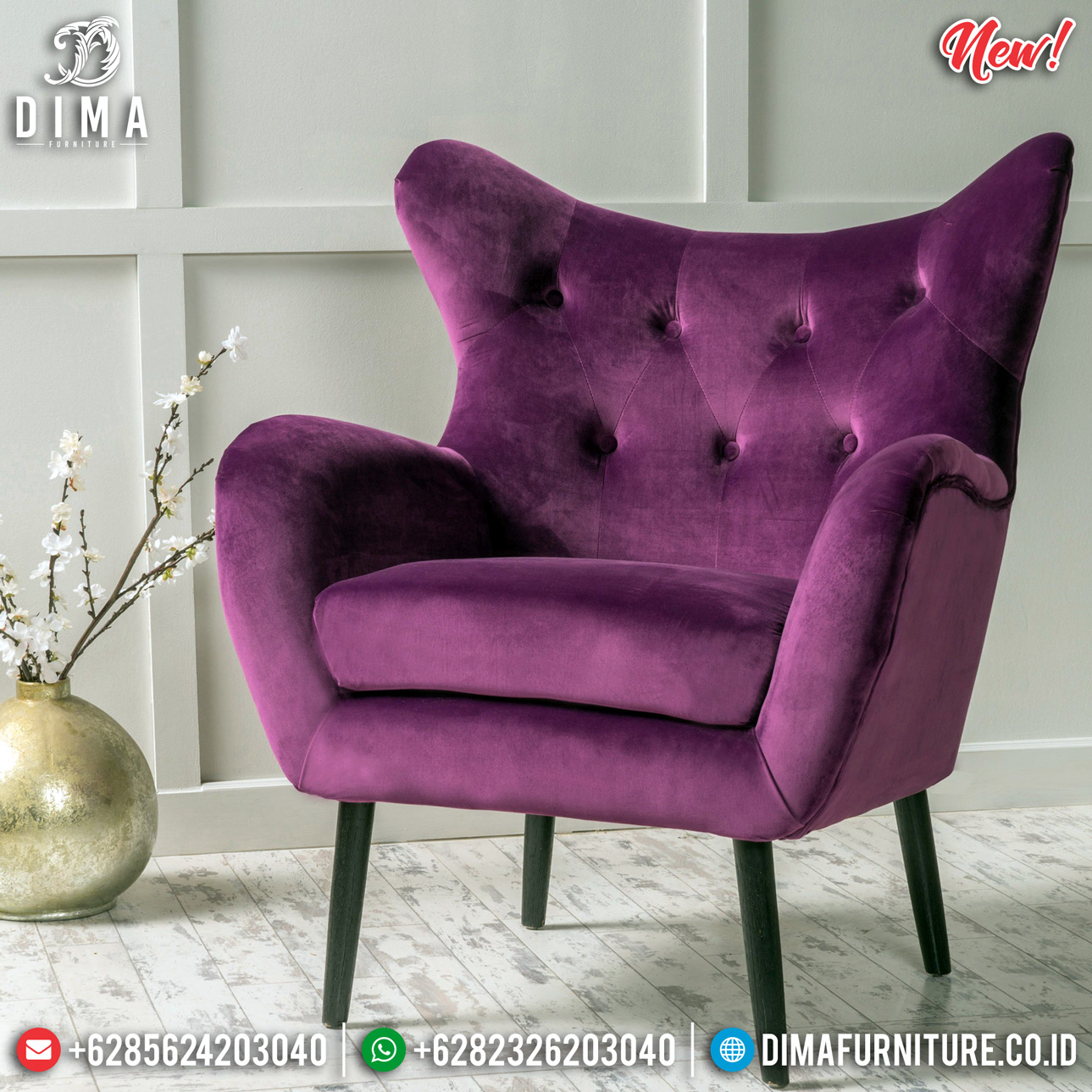 Furniture Jepara Sofa Minimalist Jepara New Design Luxury BT-0733