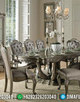 Great Quality Set Meja Makan Klasik Luxury Carving New Furniture Jepara BT-0686