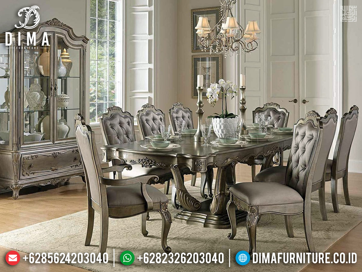 Great Quality Set Meja Makan Klasik Luxury Carving New Furniture Jepara BT-0686