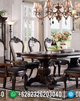 Harga Meja Makan Kayu Jati Klasik Cheap Price Furniture Jepara BT-0695