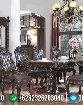 Harga Set Meja Makan Klasik Jati Luxury Carving Ukiran Khas Kota Jepara BT-0670
