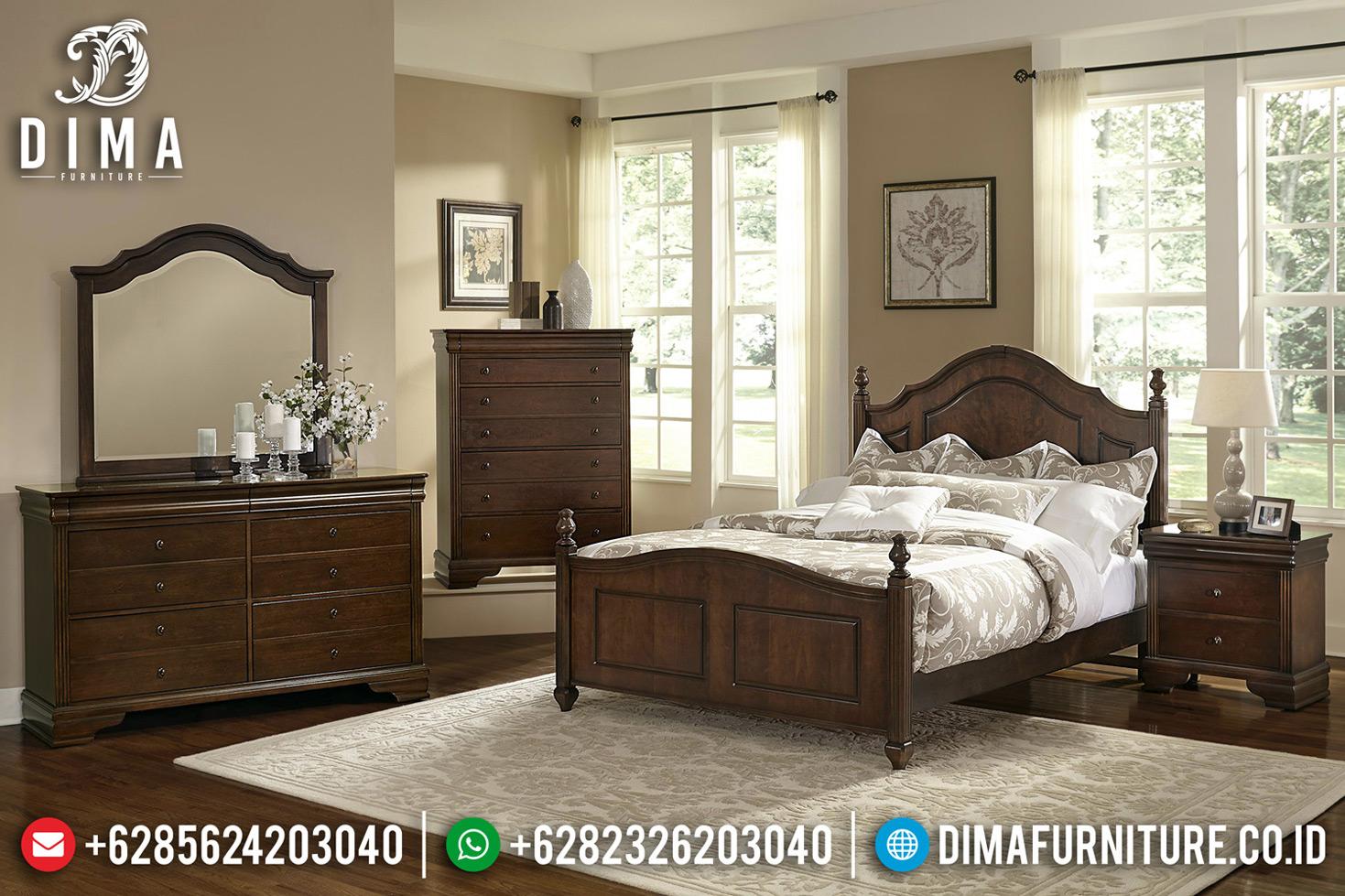 Jual Kamar Set Klasik Minimalis Jati Natural Auburn Glossy BT-0673