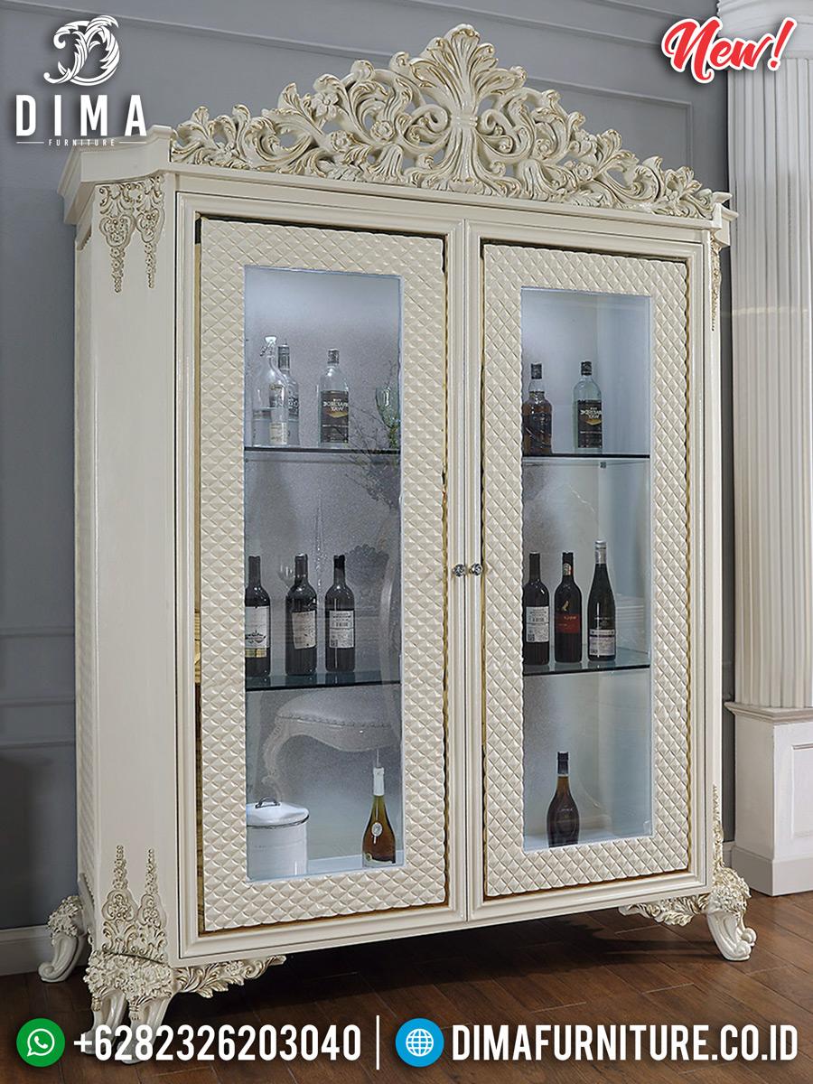 Jual Lemari Hias Kaca Mewah Modern Design New Luxury Classic Furniture Jepara BT-0714