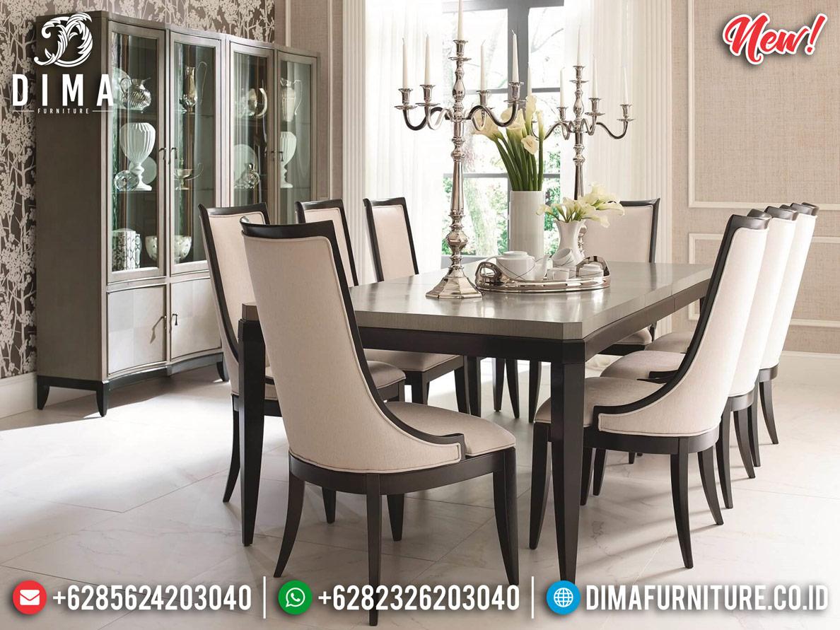 Meja Makan Minimalis Jati Natural New Interior Design Inspiring BT-0692