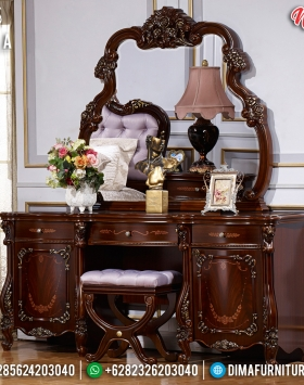 New Desain Meja Rias Mewah Luxury Carving Vanity Interior Inspiring BT-0729